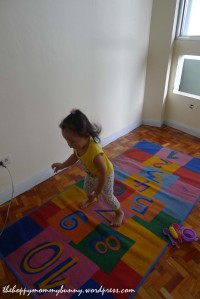 indoor hopscotch :)