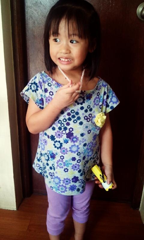 My little purple girl