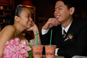 Nov 22, 2008 Bride and Groom at the coffee shop