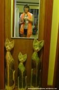 Cute cats on a door
