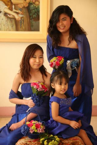 March: Yui and her aunties, her first time to be a flower girl