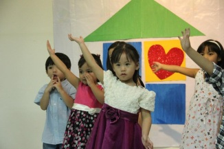 April: Proud moment...Yui at her moving up program