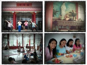 July: One of my Cebu trips where I tried temple yoga