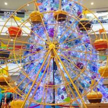 Mr. Ferris Wheel with the Robinsons Place Manila sparkling Christmas tree