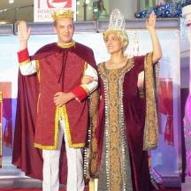 The King and Queen picked the best prince and princess of the afternoon