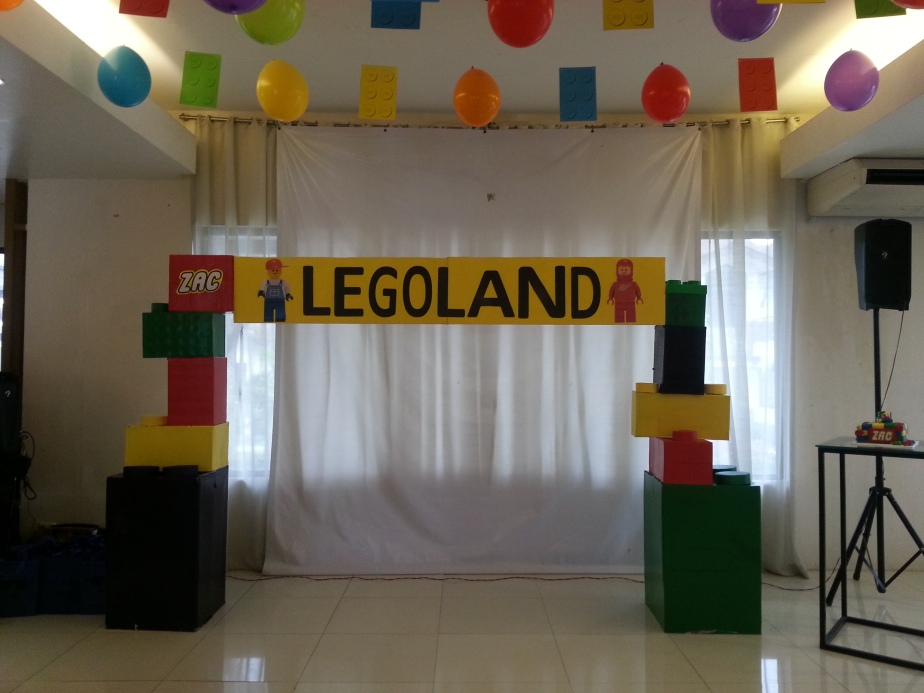 Our DIY backdrop. Not bad for first timers :)