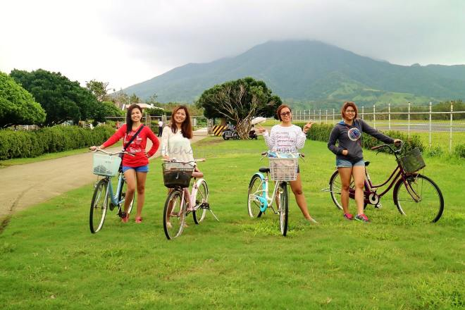 Biking outside Basco airport