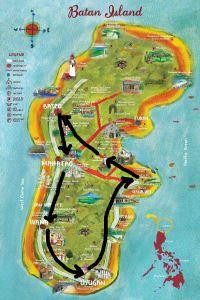 South Batan Tour route